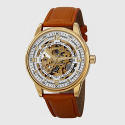 ساعة تناظرية بميناء ذهبي للرجال من أكريبوس XXIV